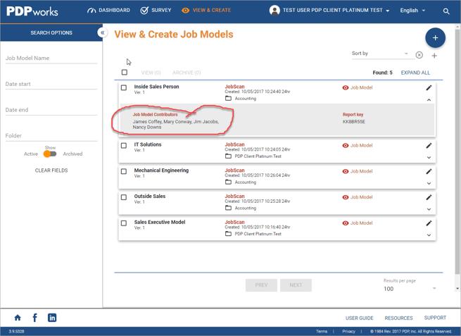 View & Create Job Model