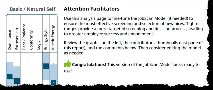 JobScan Model - facilitator page - congratulations