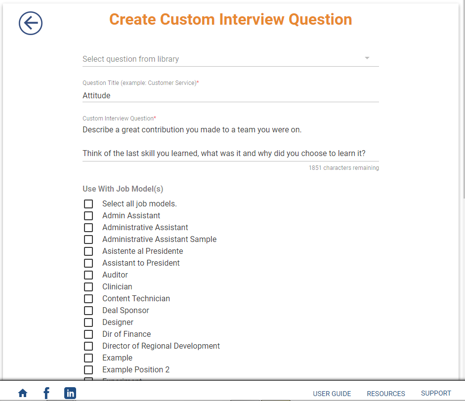 Custom Interview Questions