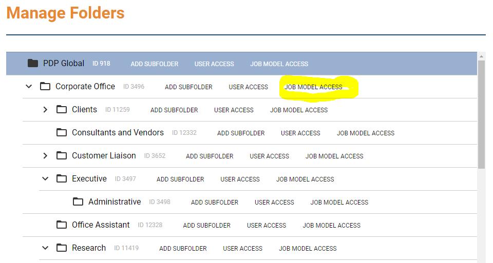 Job Model Access