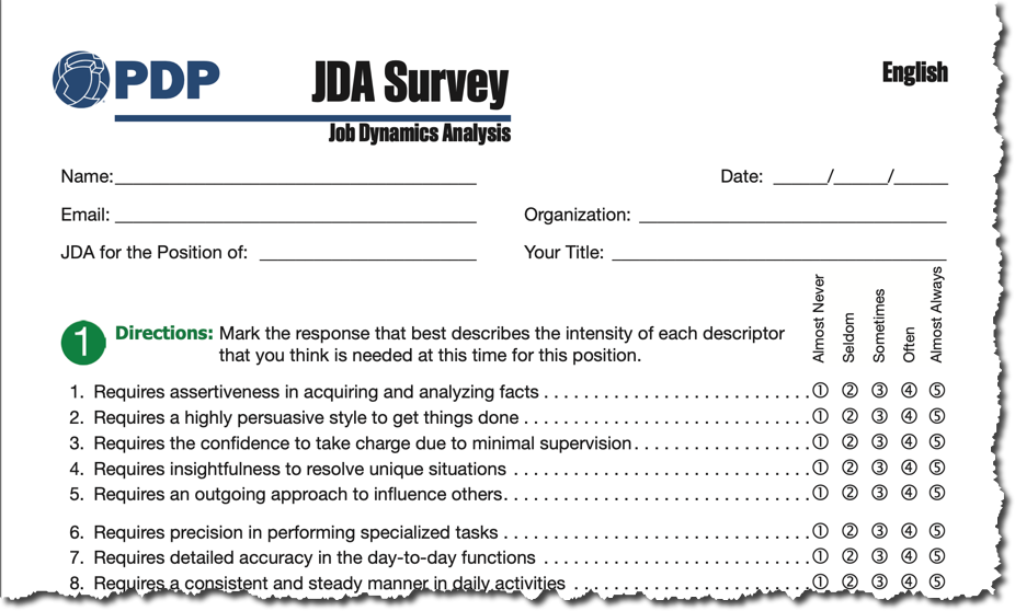Job Dynamics Analysis (JDA) Survey Update