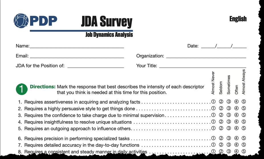 Job Dynamics Analysis (JDA) Survey Update